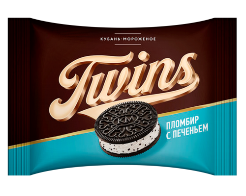 """Мороженое пломбир ванильный с печеньем """"Twins"""""""