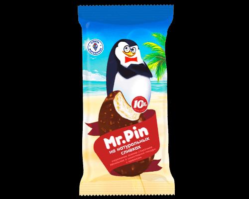 """Мороженое эскимо сливочное """"Mr Pin"""" ванильное в шоколадной глазури с арахисом"""