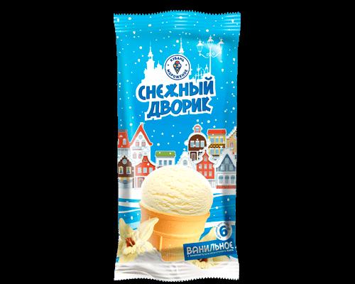 """Мороженое с змж """"Снежный дворик"""" ваниль в/с в  упак.40 шт/70г"""