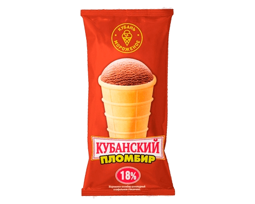 """Пломбир шоколадный """"Кубанский  пломбир"""" в/с"""