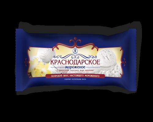 Мороженое с змж ванильное ( мешок) в упак. 4 шт. / 0, 9 кг
