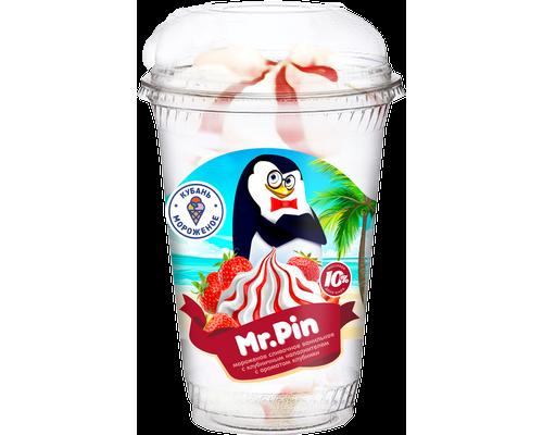 """Мороженое слив. """"Mr Pin"""" ваниль с клубничным наполнителем пл/с"""
