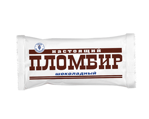"""Эскимо пломбир """"Настоящий пломбир"""" шоколад на натуральных сливках"""