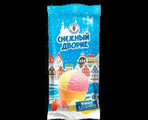 """Мороженое с змж """"Снежный дворик"""" 2-х слойное банан-клубника в/с"""