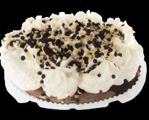 """Пломбир (торт)  """"Эльбрус""""2-х сл. ванильный и шоколадный декор. шокол.глазурью и орехами фундука"""