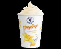 Мороженое пломбир ваниль в бумажном стаканчике