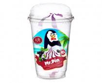 Мороженое ванильное с черносмородиновым джемом