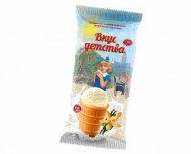 Пломбир Ванильное мороженое в вафельном стаканчике