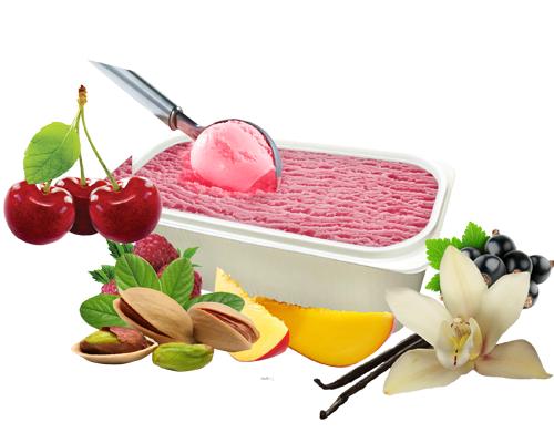 Весовое мороженое пломбир в контейнере 12%