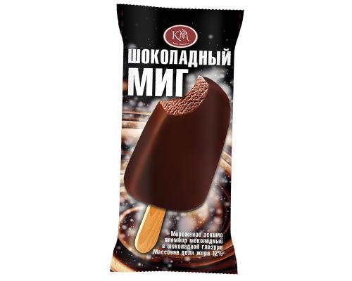 Эскимо шоколадный пломбир в шоколадной глазури