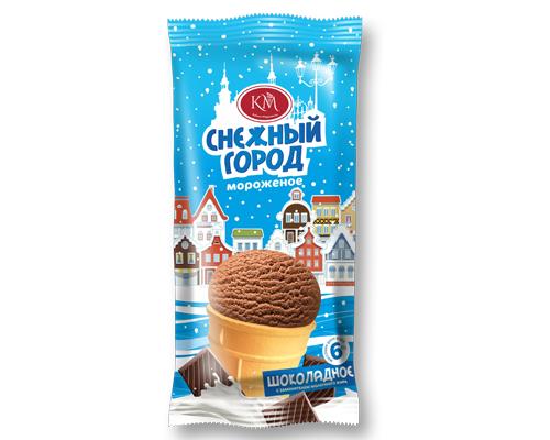 Шоколадное мороженое в вафельном стаканчике  Новинка!