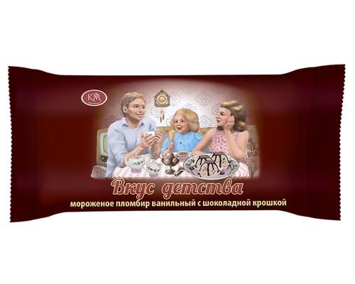 Мороженое пломбир ванильный с шоколадной крошкой