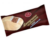 Эскимо пломбир  ванильный с ароматом капучино в белой глазури