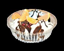 Торт-пломбир классика с фруктами круглый